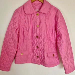 Lilly Pulitzer Pink Quilted Lightweight Jacket
